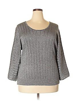 Laura Ashley 3/4 Sleeve Silk Top Size XXL