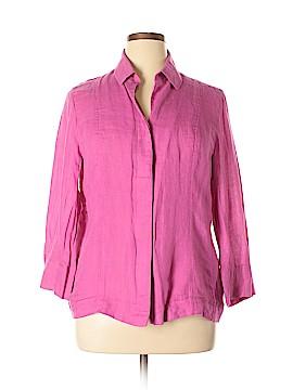 Ellen Tracy 3/4 Sleeve Button-Down Shirt Size 14