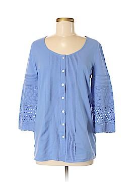 Isaac Mizrahi LIVE! 3/4 Sleeve Button-Down Shirt Size XS
