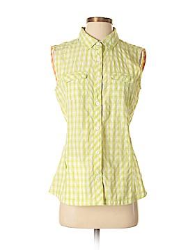 Eddie Bauer Sleeveless Button-Down Shirt Size S