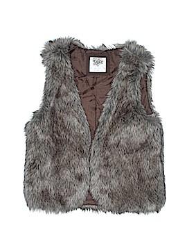 Justice Faux Fur Vest Size 18