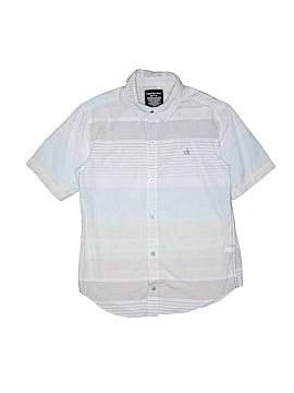 Calvin Klein Short Sleeve Button-Down Shirt Size M (Kids)