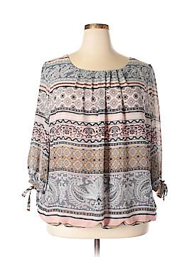 Roz & Ali 3/4 Sleeve Blouse Size 3X (Plus)