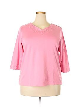 Denim & Co 3/4 Sleeve Top Size 1X (Plus)
