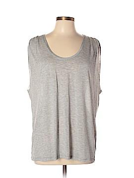 Velvet Sleeveless T-Shirt Size L