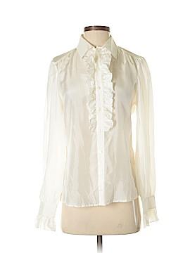 Ralph Lauren Long Sleeve Silk Top Size 8
