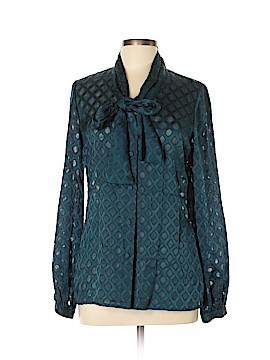Tory Burch Long Sleeve Silk Top Size 10