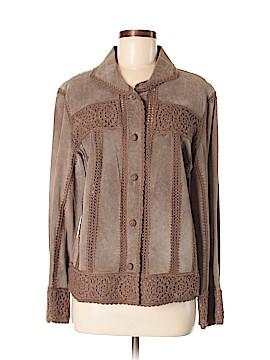 J.jill Leather Jacket Size M