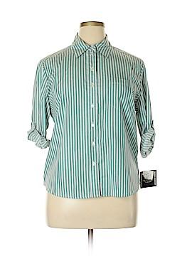 Allison Daley Long Sleeve Button-Down Shirt Size 14 (Petite)
