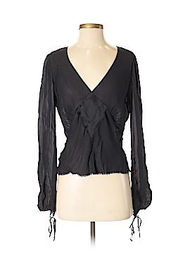 Tree Long Sleeve Silk Top Size S