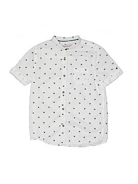 Zara Short Sleeve Button-Down Shirt Size 8