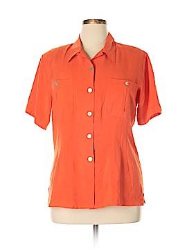 Edward Short Sleeve Silk Top Size L