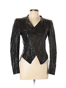 Gracia Fashion Faux Leather Jacket Size L