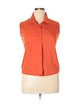 Casual Corner Annex Sleeveless Button-Down Shirt Size 1X (Plus)