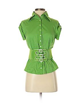 Bebe Short Sleeve Button-Down Shirt Size S