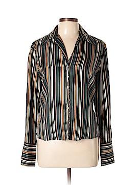 Jones New York Long Sleeve Silk Top Size 10