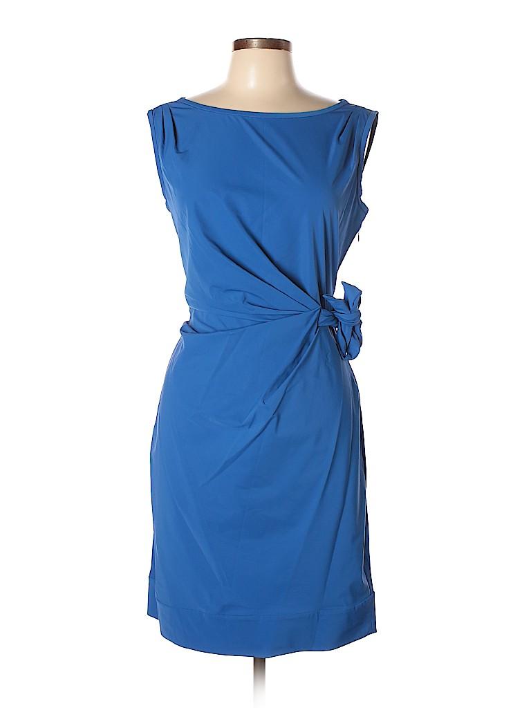 29871363cb6 Diane von Furstenberg Solid Dark Blue Cocktail Dress Size 10 - 82 ...