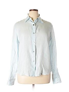 Linda Allard Ellen Tracy Long Sleeve Button-Down Shirt Size 14