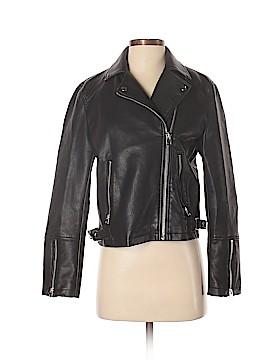 Topshop Faux Leather Jacket Size 6
