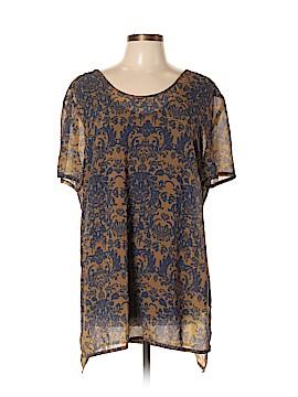 Modamix By Brandon Thomas Short Sleeve Blouse Size 14W Plus (Plus)