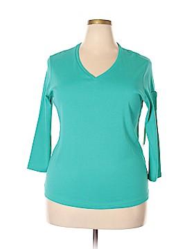 Jones New York 3/4 Sleeve T-Shirt Size 1X (Plus)