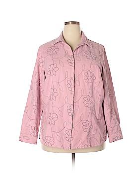 Sag Harbor Long Sleeve Button-Down Shirt Size 1X (Plus)