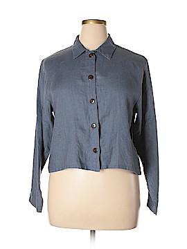 Kiko Long Sleeve Button-Down Shirt Size L