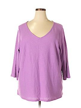 Liz Claiborne 3/4 Sleeve T-Shirt Size 2X (Plus)