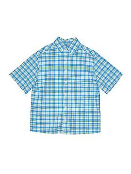 First Wave Short Sleeve Button-Down Shirt Size 8