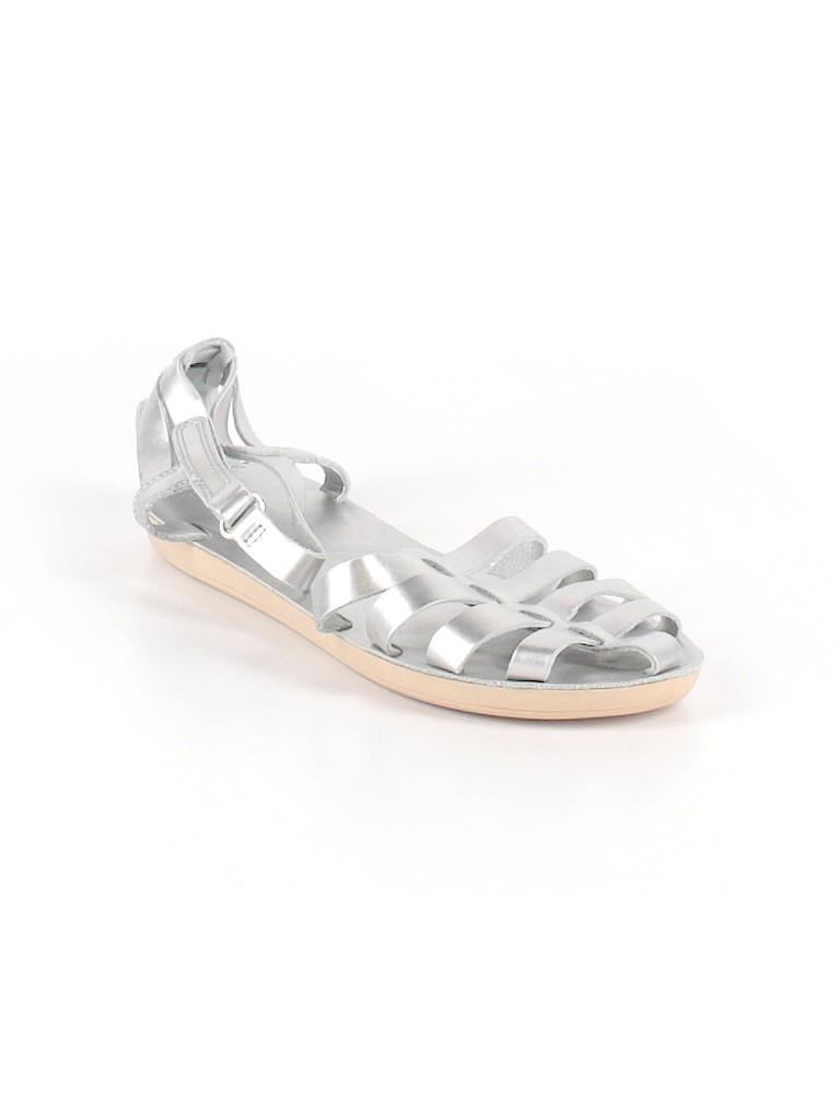 c347fa4b05e Lands  End Metallic Silver Sandals Size 4 - 95% off