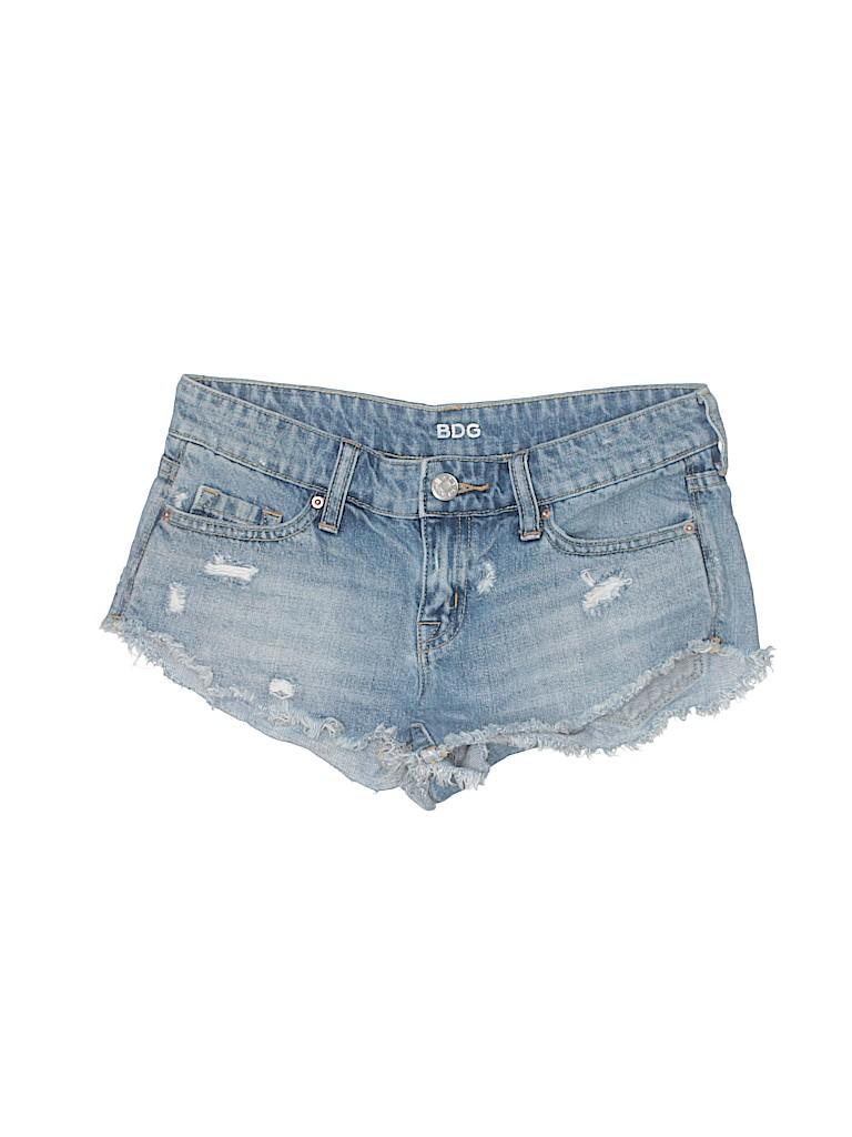 Bdg Short Shorts Distressed Women Light Blue Cotton Clothing, Shoes & Accessories