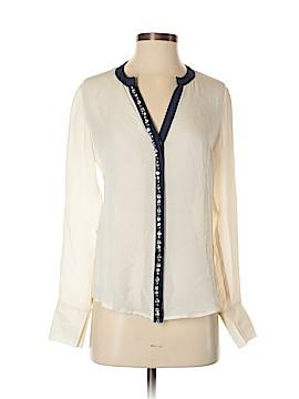 Madison Marcus Long Sleeve Silk Top Size XS
