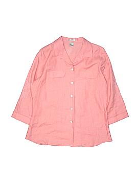 Edward 3/4 Sleeve Button-Down Shirt Size M