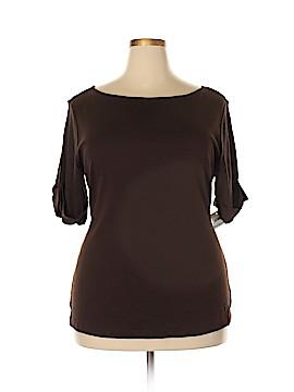 Karen Scott Short Sleeve Top Size 1X (Plus)