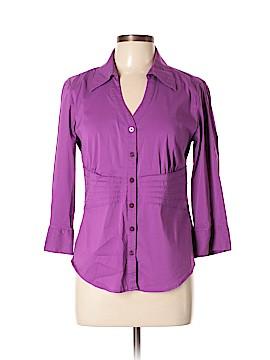 Alfani 3/4 Sleeve Button-Down Shirt Size 10
