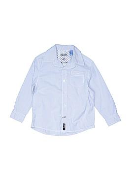 Okaidi Long Sleeve Button-Down Shirt Size 4