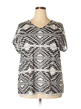 INC International Concepts Short Sleeve Top Size 2X (Plus)
