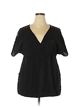 American Rag Cie Short Sleeve Blouse Size 2X (Plus)