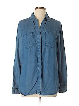 Buttons Long Sleeve Button-Down Shirt Size M