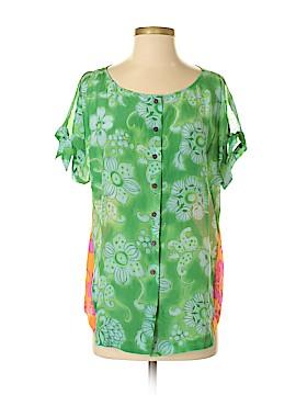 Vanessa Virginia Short Sleeve Silk Top Size 6