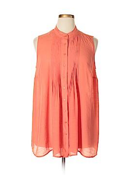 Alfani Sleeveless Button-Down Shirt Size 16