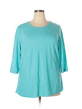 Rebecca Malone 3/4 Sleeve Top Size 1X (Plus)