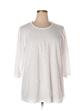 C.D. Daniels 3/4 Sleeve Top Size 3X (Plus)