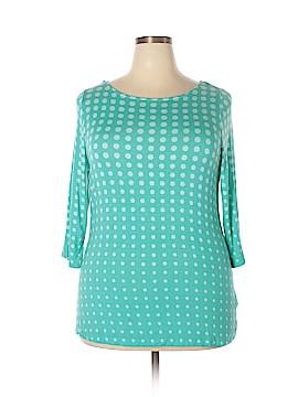 Cynthia Rowley for T.J. Maxx 3/4 Sleeve Top Size 1X (Plus)