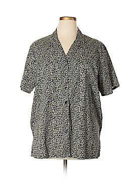 Charter Club Short Sleeve Button-Down Shirt Size 16