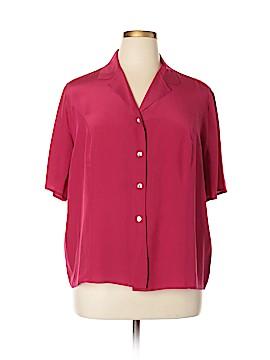 Casual Corner Short Sleeve Silk Top Size 16