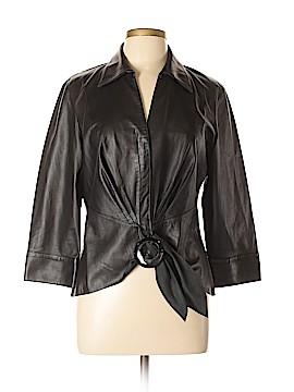 Lafayette 148 New York Leather Jacket Size 14