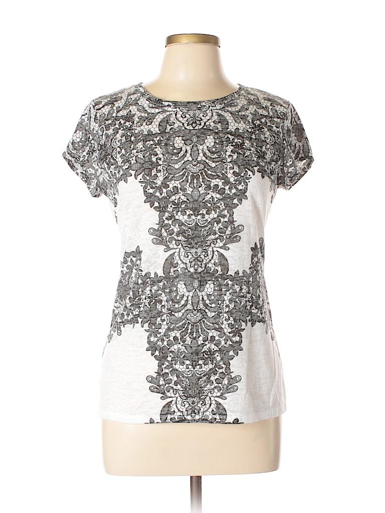 INC International Concepts Women Short Sleeve Top Size L