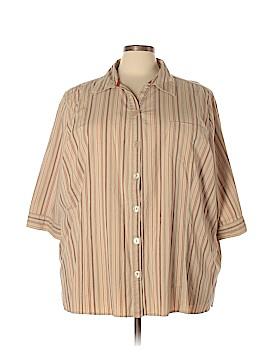 Liz & Me 3/4 Sleeve Button-Down Shirt Size 4X (Plus)