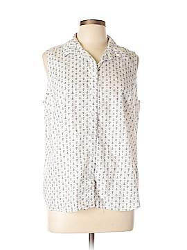 Croft & Barrow Sleeveless Button-Down Shirt Size L